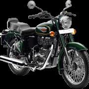 Royal Enfield Motorrad Bullet 500 in Farbe Forest Green