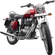 Royal Enfield Motorrad Bullet Electra in Farbe Red