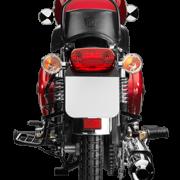Royal Enfield Motorrad Bullet Electra in Farbe Red