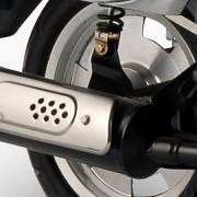 Tauris Roller Capri 50 / 2T Detailansicht Auspuff