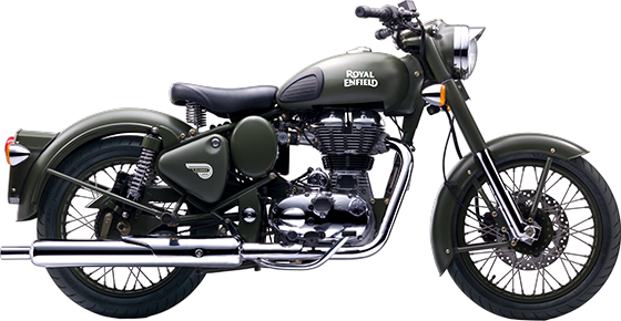 Royal Enfield Motorrad Classic Battle Green in Farbe Classic Battle Green
