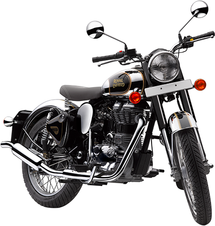 Royal Enfield Motorrad Classic Chrome in Farbe Classic Black