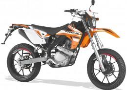 Rieju Motorrad MRT SM 125 in Farbe Orange