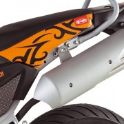 Rieju Motorrad Tangoo! 50 Detailansicht Auspuff