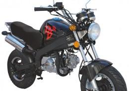 SkyTeam Motorrad PBR 50 in Farbe Schwarz